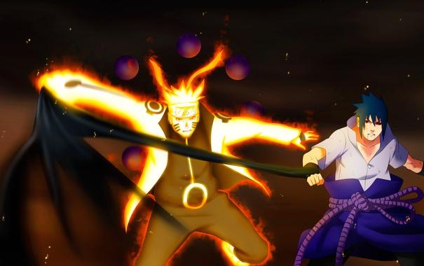 Фото обои злость, naruto, art, sharingan, uchiha sasuke, manga, uzumaki naruto