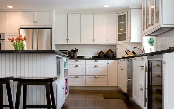 Фото обои стол, раковина, кухня, шкафчик, столовая