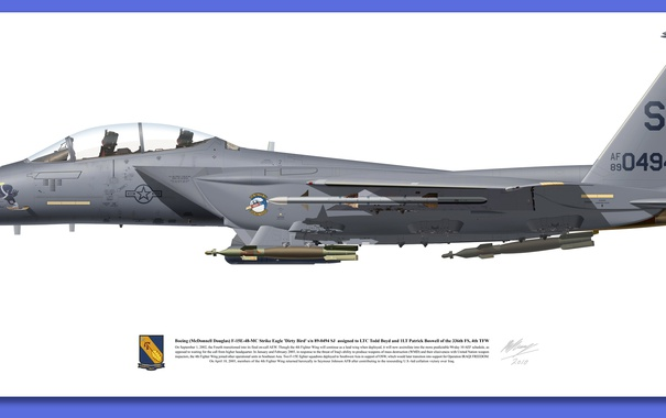 Фото обои f 15, gray, Aircraft illustration