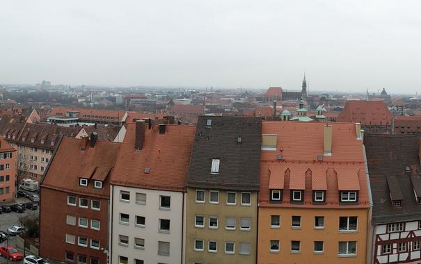 Фото обои Германия, Бавария, панорама, Нюрнберг