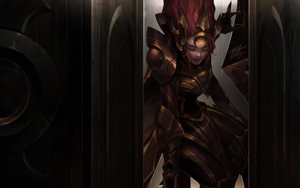 Фото обои art, League of Legends, leona, moba, Radiant Dawn