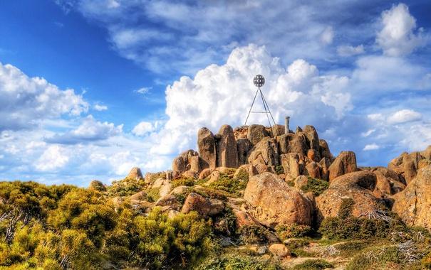 Фото обои камни, скалы, Австралия, Тасмания, гора Веллингтон