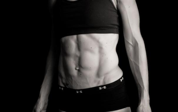 Фото обои woman, abs, bodybuilder