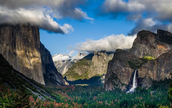 Фото обои USA, Yosemite NP, Tunnel View