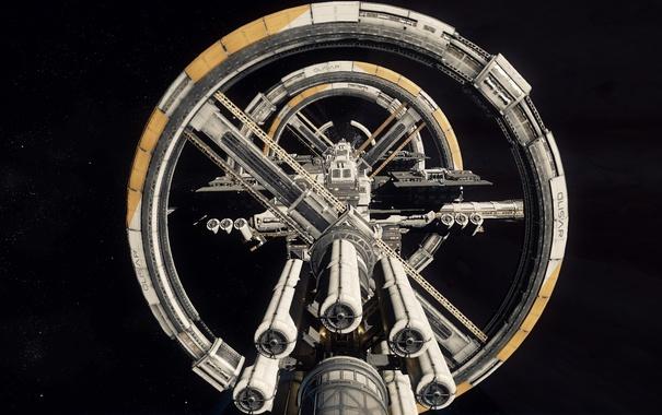 Фото обои космос, станция, Star Citizen, Port Olisar
