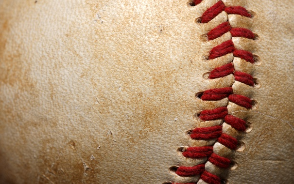 Фото обои leather, ball, baseball, thread, softball