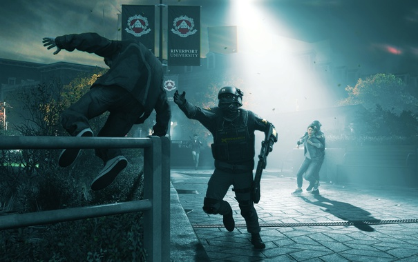 Фото обои soldier, jump, order, Quantum Break