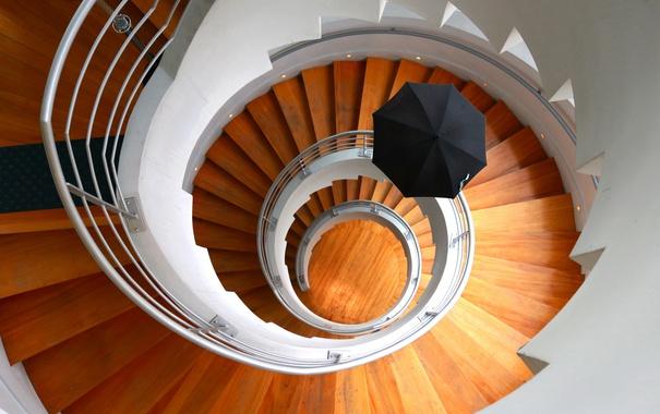 Фото обои фон, зонт, лестница
