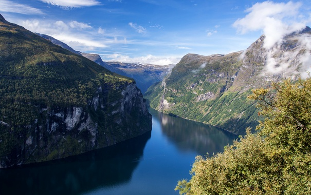 Фото обои река, скалы, Норвегия, Mollsbygda
