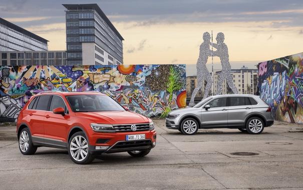 Фото обои Volkswagen, фольксваген, Tiguan, тигуан