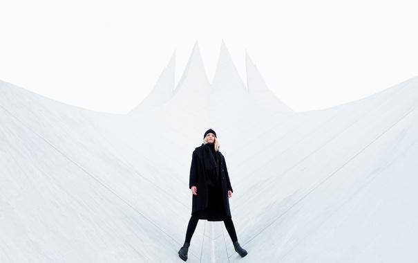 Фото обои Девушка, архитектура, black, мода, Берлин, clean