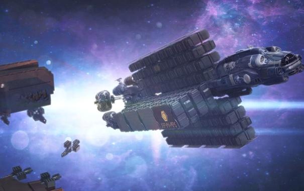 Фото обои космос, звезды, полет, корабль, Star Citizen