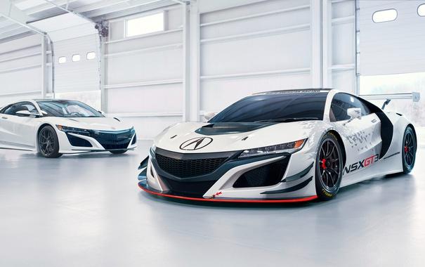 Фото обои суперкар, Honda, хонда, GT3, акура, Acura, NSX
