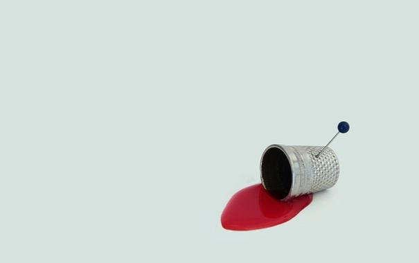 Фото обои фон, кровь, булавка
