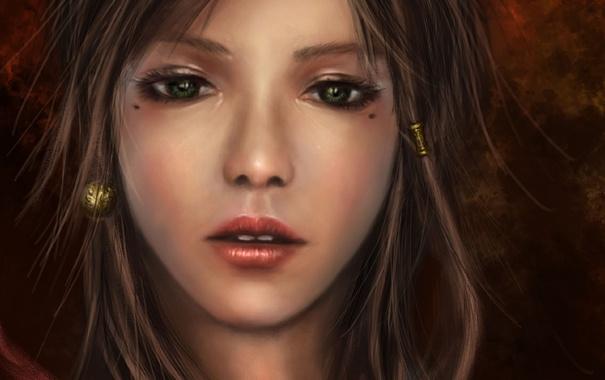 Фото обои портрет, Девушка, арт