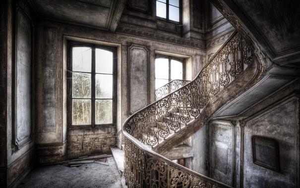 Фото обои фон, лестница, стены