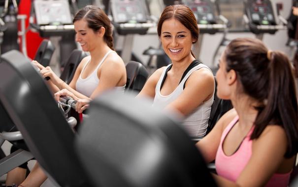 Фото обои fitness, gym, best friends