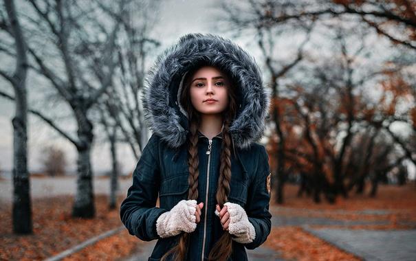 Фото обои мех, косы, Диана, Dima Begma
