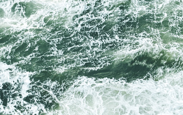 Фото обои море, волны, пена, океан, стихия