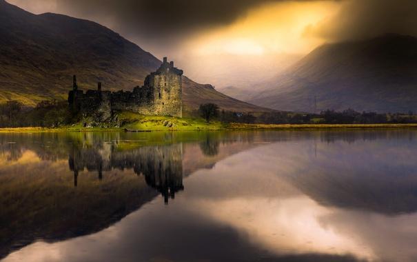 Фото обои Scotland, Loch Awe, Kilchurn castle