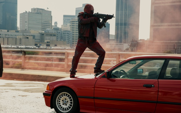 Фото обои машина, оружие, автомат, грабитель, Три девятки, Triple 9