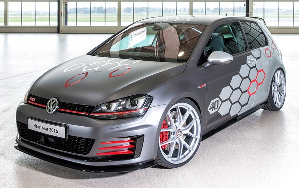 Фото обои Volkswagen, гольф, Golf, GTI, фольксваген