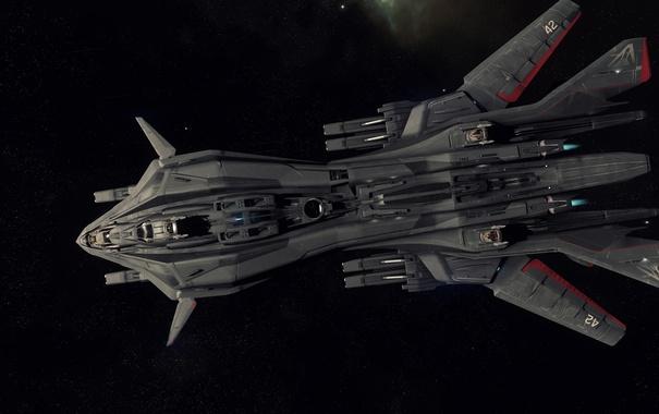 Фото обои космос, полет, корабль, Star Citizen, Retaliator
