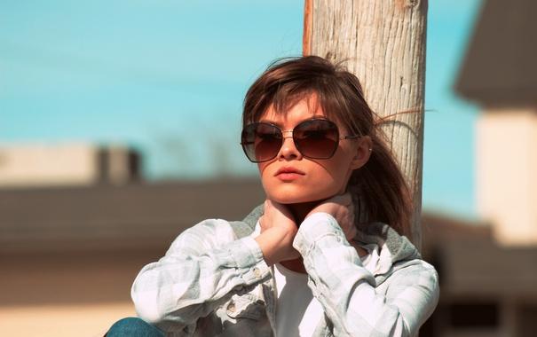 Фото обои лето, девушка, лицо, очки, Demi