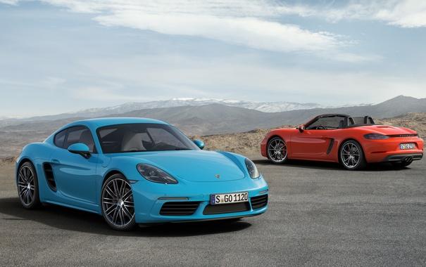 Фото обои Porsche, Cayman, порше, кайман, 718