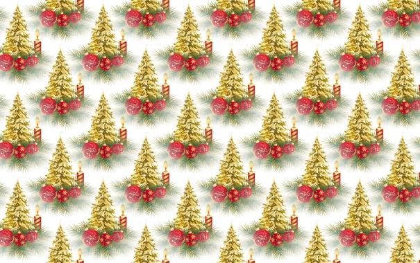 Фото обои фон, праздник, текстура, Новый год, ёлочка