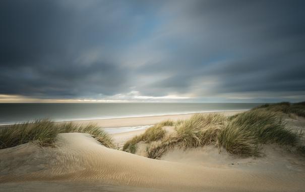 Фото обои море, пляж, дюны