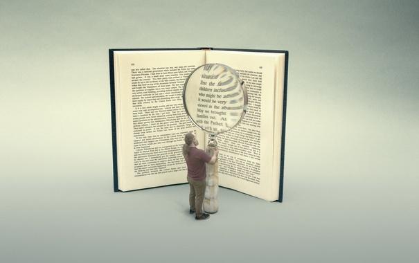 Фото обои фон, человек, книга