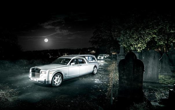 Фото обои Rolls-Royce, Phantom, кладбище, фантом, роллс-ройс, Biemme, B12