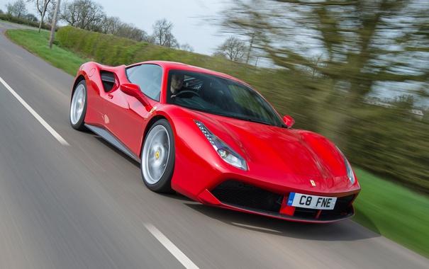 Фото обои Ferrari, суперкар, феррари, GTB, 488