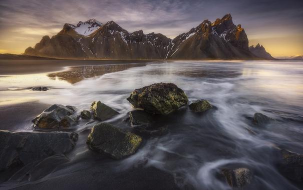 Фото обои море, горы, берег