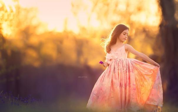 Фото обои свет, природа, девочка