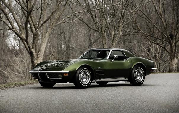 Фото обои Corvette, Chevrolet, шевроле, 1970, Stingray, корветт