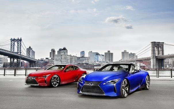 Фото обои красный, Lexus, седан, лексус