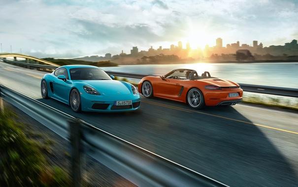 Фото обои Porsche, родстер, порше, Boxster, бокстер, 718