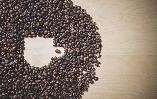 Фото обои кофе, кружка, кофейные зерна