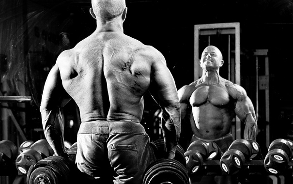 Фото обои power, men, back, bodybuilder, jerry Koolhoven