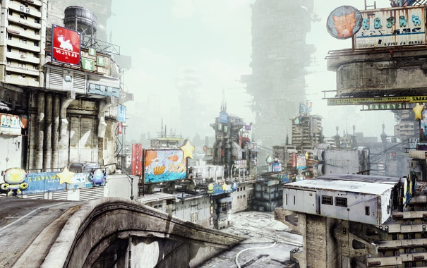 Фото обои город, фантастика, игра, Hawken