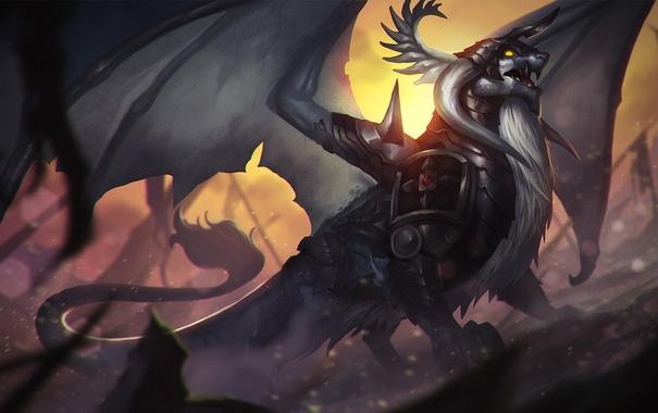 Фото обои дракон, крылья, броня, Heroes of Newerth, Draconis, Knightslayer
