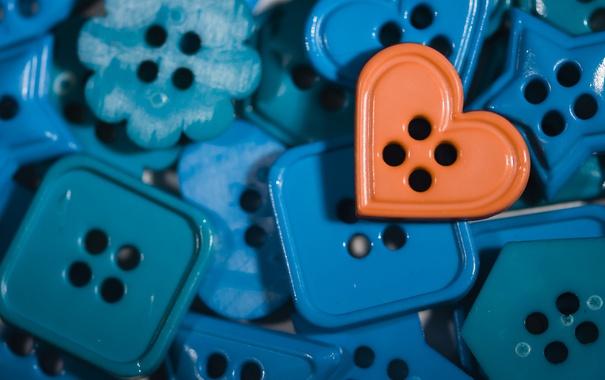 Фото обои макро, цвет, пуговицы