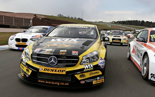 Фото обои зеленый, Mercedes-Benz, мерседес, амг, A-class, W176, British Touring Car Championship