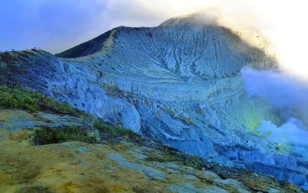 Фото обои гора, вулкан, Индонезия, остров Ява