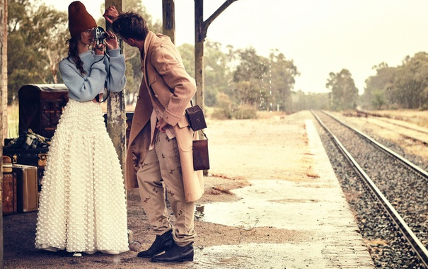 Фото обои Australia, Vogue, Jimmy Young-Whitforde, retro-inspired vintage story, Ondria Hardin