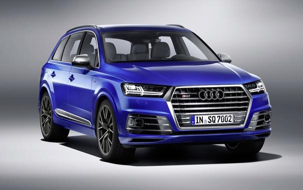 Фото обои синий, фон, Audi, ауди, кроссовер