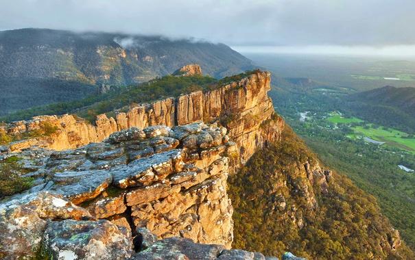 Фото обои горы, скалы, Виктория, долина, Австралия, Grampians National Park