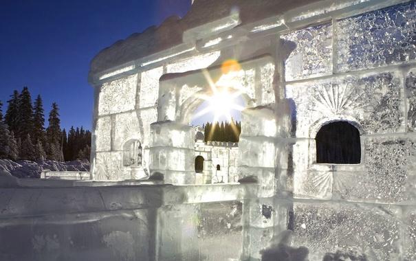Фото обои Канада, Альберта, озеро Луиза, ледовый дворец